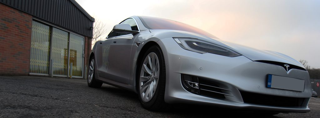 Futuristic Tesla Model S Protected With Cutting Edge Nano-Technology