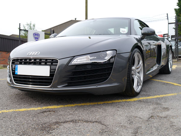 Audi R8 refined with 3M Ultrafina and treated with 22PLE VX1 Pro Signature Glass Coating