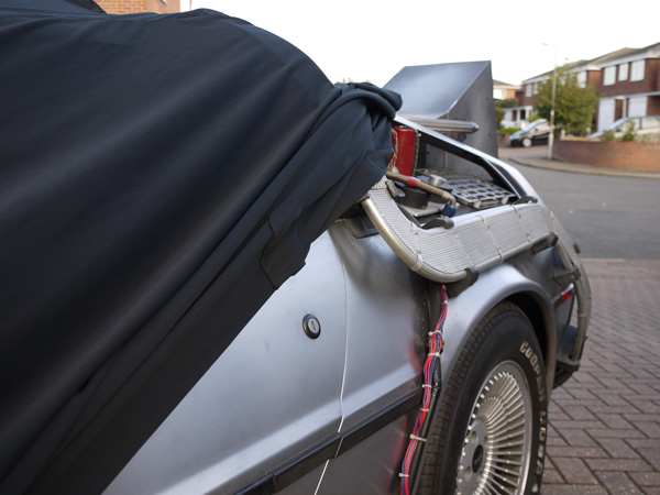 Ultimate Finish Goes Back To The Future - Elite Transportation Cover for the Delorean Time Machine