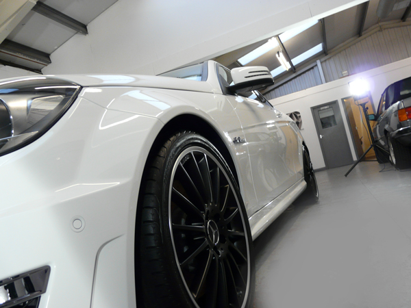 New Car Protection Treatment on Mercedes C63 AMG using Gtechniq's new EXO v2.