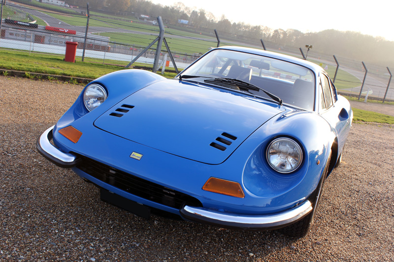 Paintwork Restored For A Rare 1972 Azzurro Dino 246 GT Berlinetta