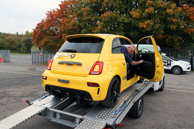 fiat abarth 595 competizione receives new car protection treatment. Black Bedroom Furniture Sets. Home Design Ideas