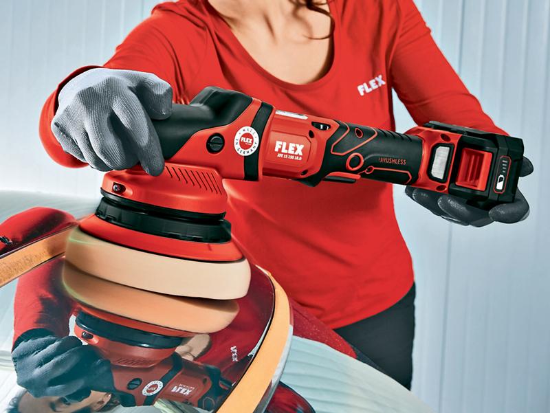 Introducing FLEX Cordless Rotary and Random Orbital Machine Polishers