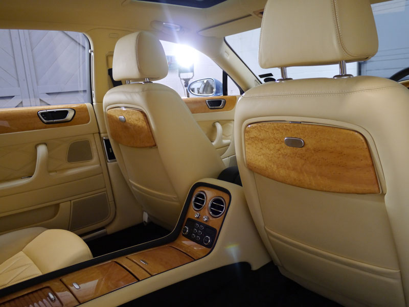 Bentley Flying Spur interior treated with Swissvax Leather Treatments