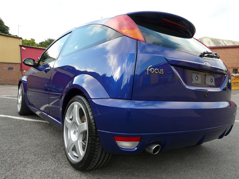 Gloss Enhancement Treatment Completed for Imperial Blue Ford Focus RS