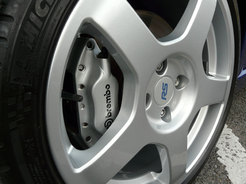 Ford Focus RS wheels protected with Gtechniq C5 Alloy Wheel Armour