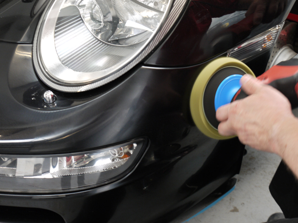 FLEX PE14-2-15 Rotary Machine Polisher tackles swirling on Porsche 997 Carrera S