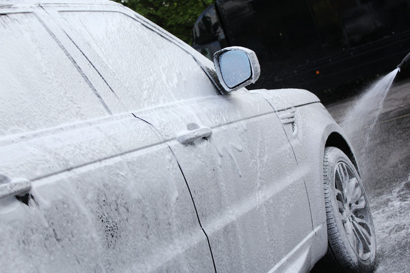 2014 Range Rover Sport Autobiography pre cleaned with Ultimate Snow Foam