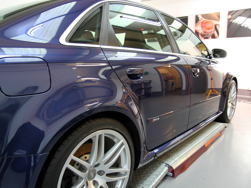 Audi RS4 Mugello Blue - Gloss Enhancement Treatment