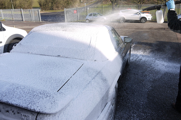 Ultimate Detailing Studio uses Ultimate Snow Foam to pre-wash vehicles to remove larger dirt particles