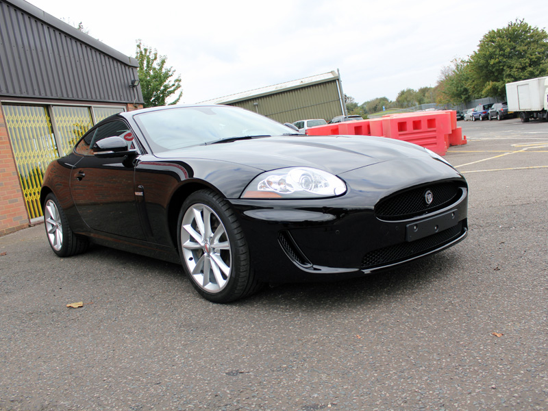 Metallic Black Jaguar XK Has Its Cherry Flake Restored