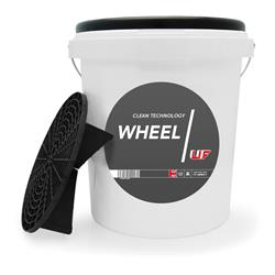 UF Wheel Bucket with Grit Guard & Black Lid