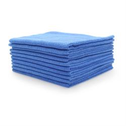 Premium Seamless Microfibre Buffing Fleece (Blue) 10 Pack