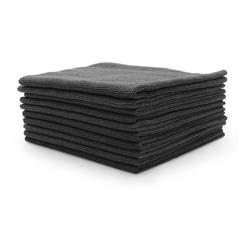 Premium Seamless Microfibre Buffing Fleece (Black) 10 Pack