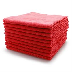 Microfibre Buffing Fleece 40 x 40cm (Red 10 Pack)