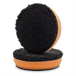"Chemical Guys 100mm (4"") Black Optics Microfibre Orange Cutting Pad"