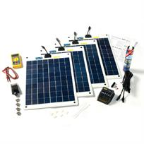Solar Technology 80W Solar Panel Roof Top Kit - Complete
