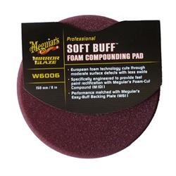 Meguiars 6 Inch / 150mm Soft Buff 2.0 Foam Compounding Pad