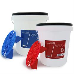 UF Wash & Rinse Bucket Set With Grit Guards & Lids