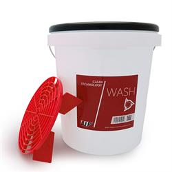 UF Wash Bucket With Red Grit Guard & Red Lid