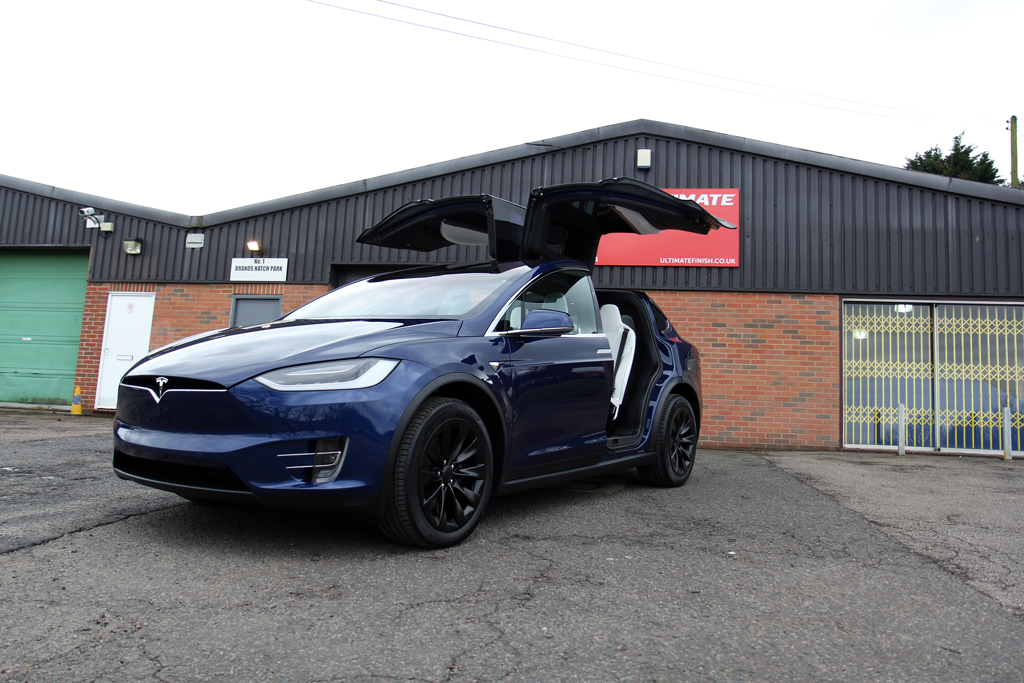 Falcon-Winged Tesla Model X Protected By Advanced Nanotechnology