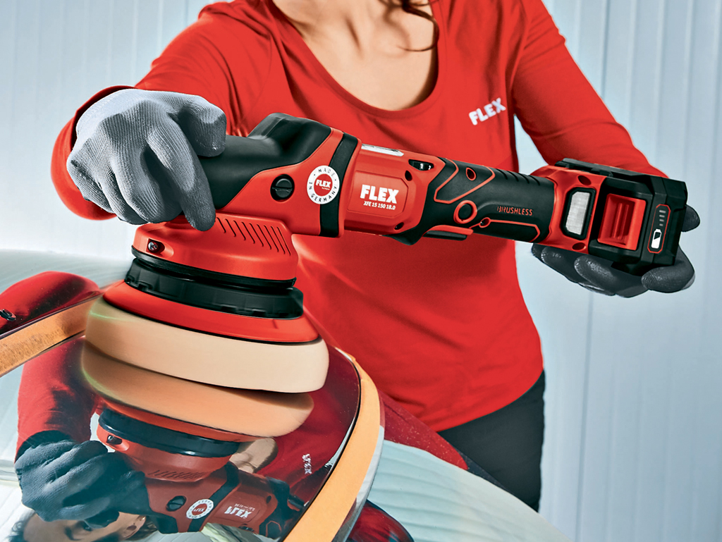 FLEX Cuts The Cord With New Cordless Machine Polishers
