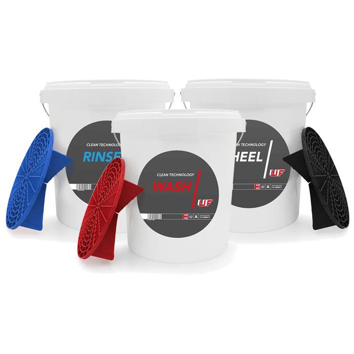 Detailing bucket - Wash, Rinse & Wheel Set