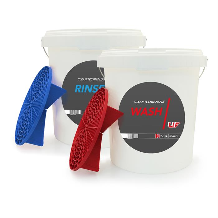 WASH & RINSE BUCKET SET WITH GRIT GUARDS