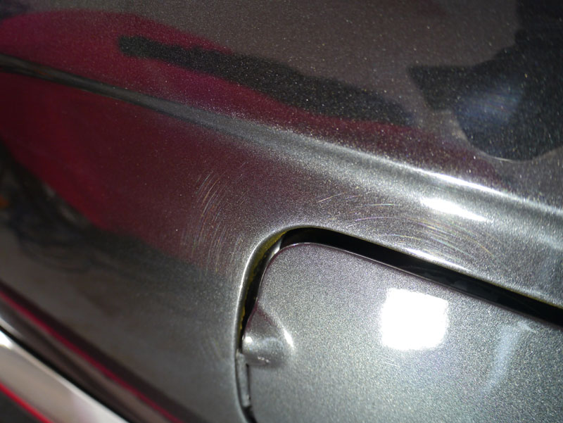 Swirl marks in the paintwork of a BMW 325i cabriolet removed using Swissvax Professional range