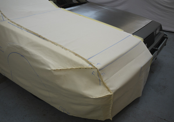 Measuring template for an Elite Transportation Cover for the Delorean Time Machine