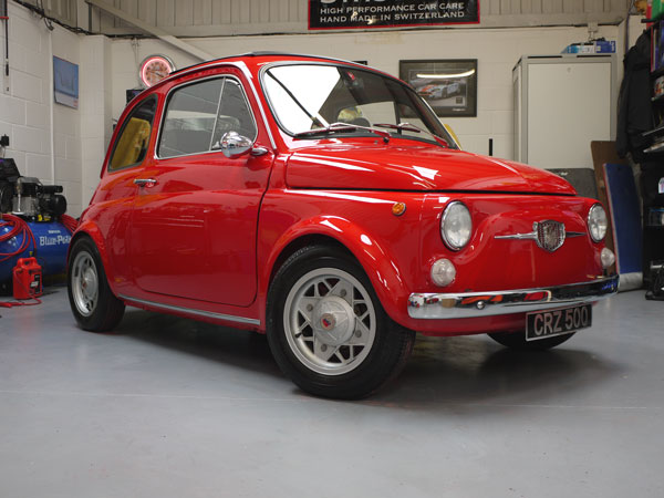 Fiat 500 Tv Giannini Perfectly Protected Uf Studio Car Care