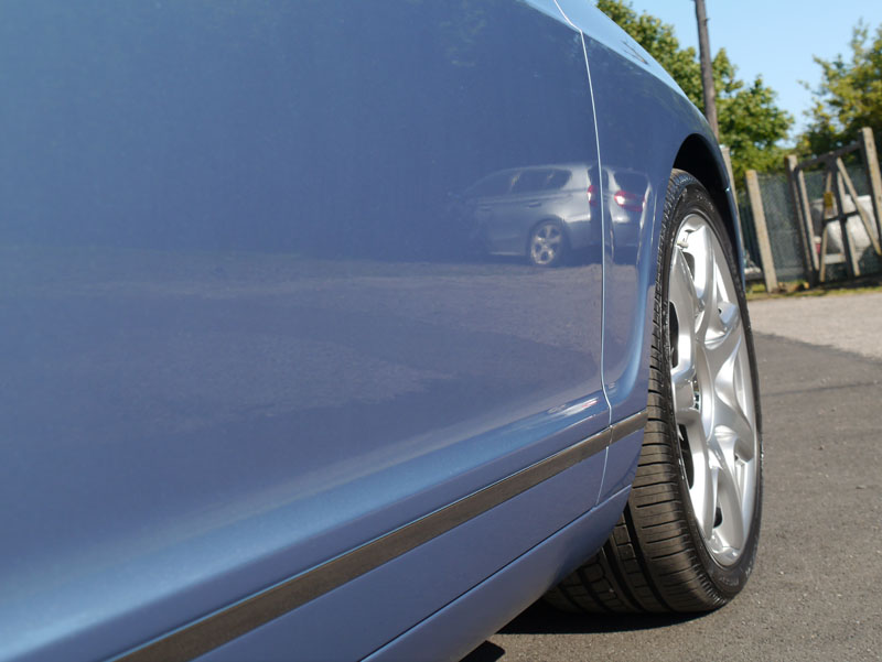 Bentley Flying Spur in Silverlake Blue - finished with 22PLE VX1 Pro Signature Glass Coat