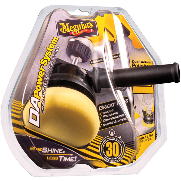 Meguiar's DA Power System turns a drill into a DA polisher