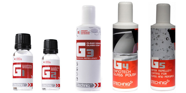 Gtechniq Glass Care Products from Ultimate Finish