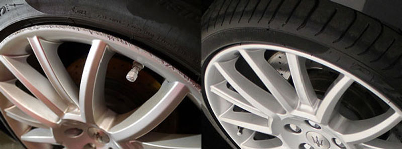 Alloy Wheel Refurbishment for 16 to 21 Inch Rims