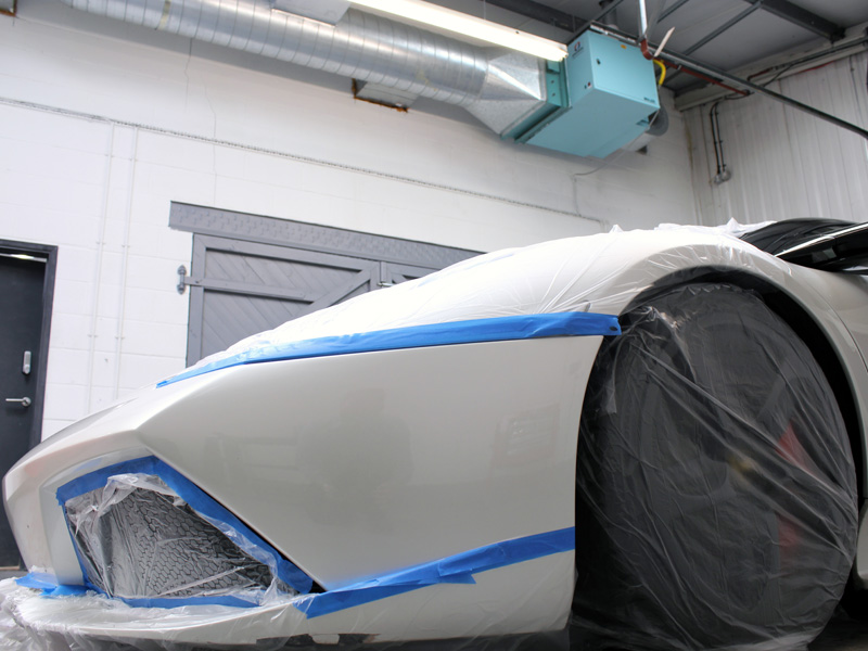 Lamborghini LP640 - 3M Paint Defender Spray Film Test