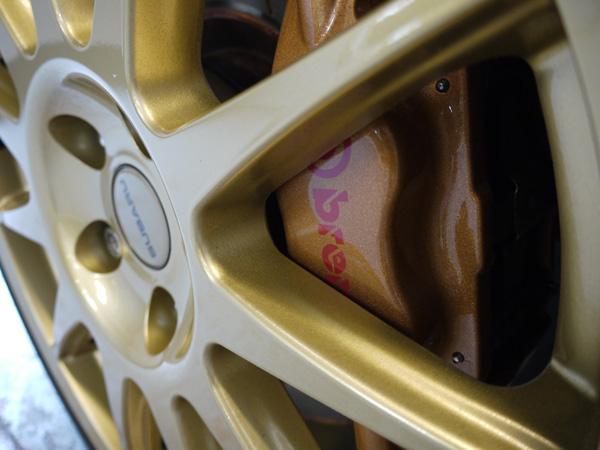 Gtechniq C5 Alloy Wheel Armour on Subaru Impreza WRX STi
