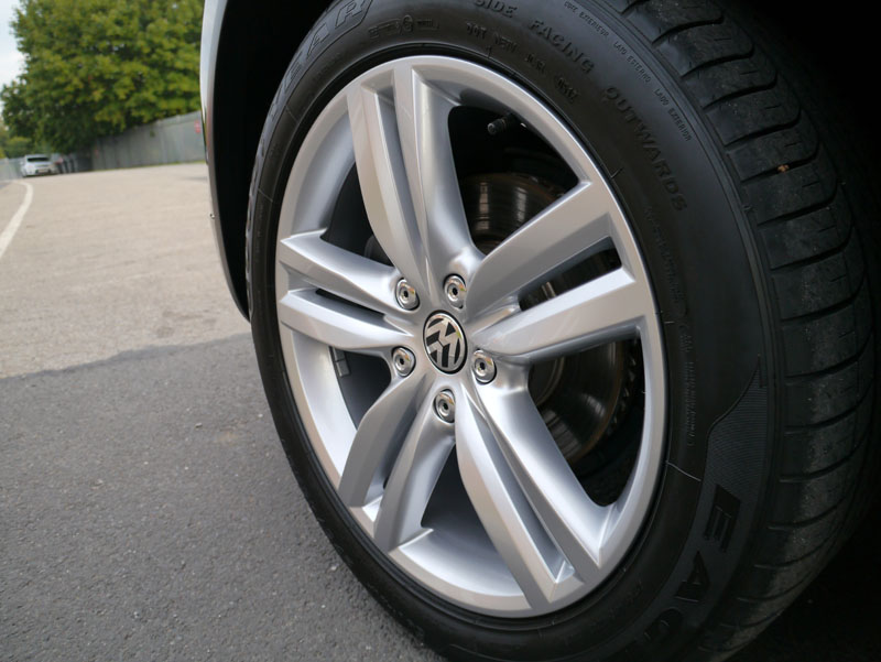 Wheels protected with Nanolex ULTRA Paint & Alloy Wheel Sealant